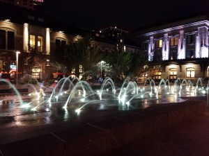 Fountains outside Union Station