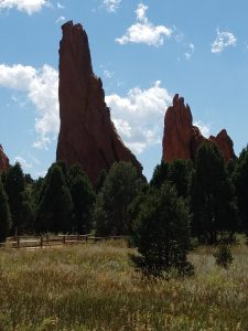 Red rock spires at Garden of the Gods