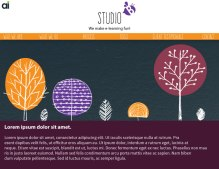 This was a look and feel page I mocked up for Studio B at Allen Interactions. The idea was to create a page more illustrated and playful.