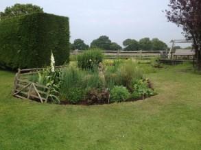 A countryside garden border