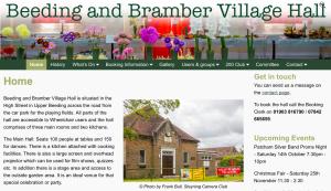 Beeding and Bramber Village Hall website