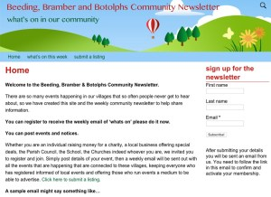 Beeding, Bramber and Botolphs newsletter website