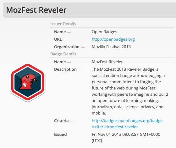 MozFest Open Badge