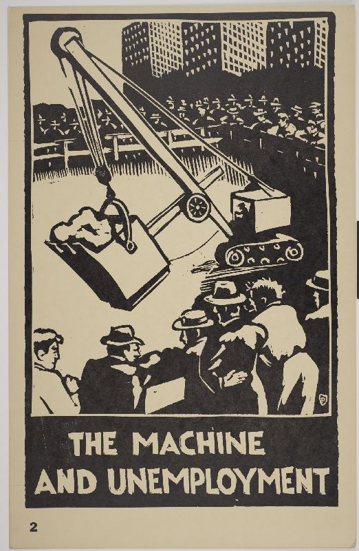 The Machine and Unemployment by Paul Herzel c.1935