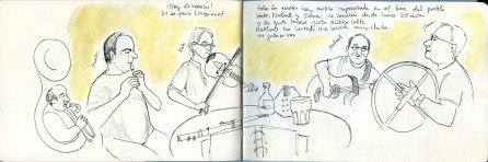 Músicos en el Bar