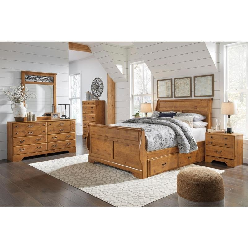 Best Bedroom Sets Bittersweet B219 6 Pc Queen Sleigh Storage With Pictures