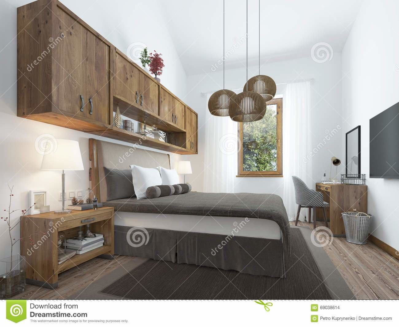 Best Bedroom Loft Style With Wooden Furniture And White Walls With Pictures