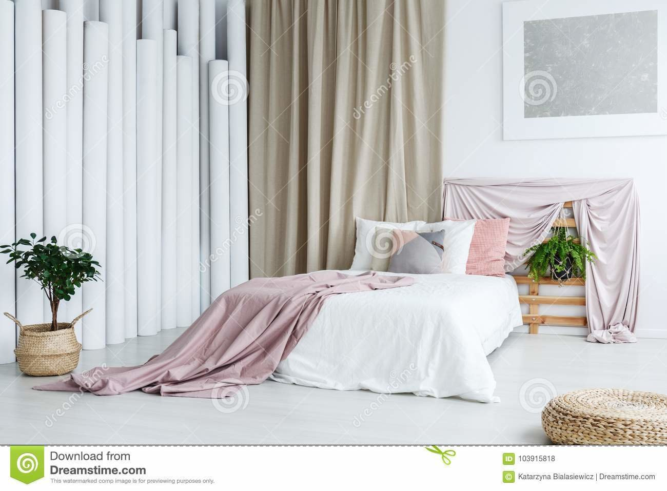 Best Creative Bedroom With Tube Decoration Stock Photo Image With Pictures