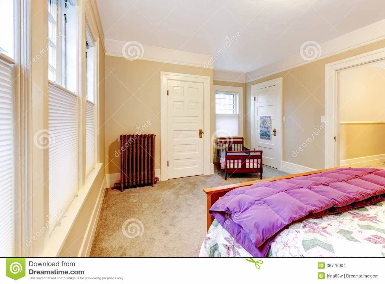 Best Light Cosy Small Bedroom With Baby Crib Stock Images With Pictures
