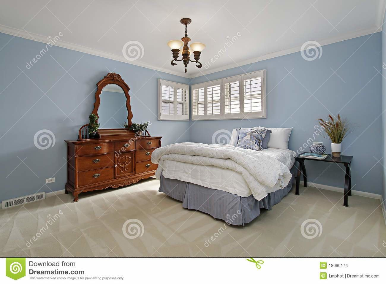 Best Master Bedroom With Light Blue Walls Stock Photo Image With Pictures