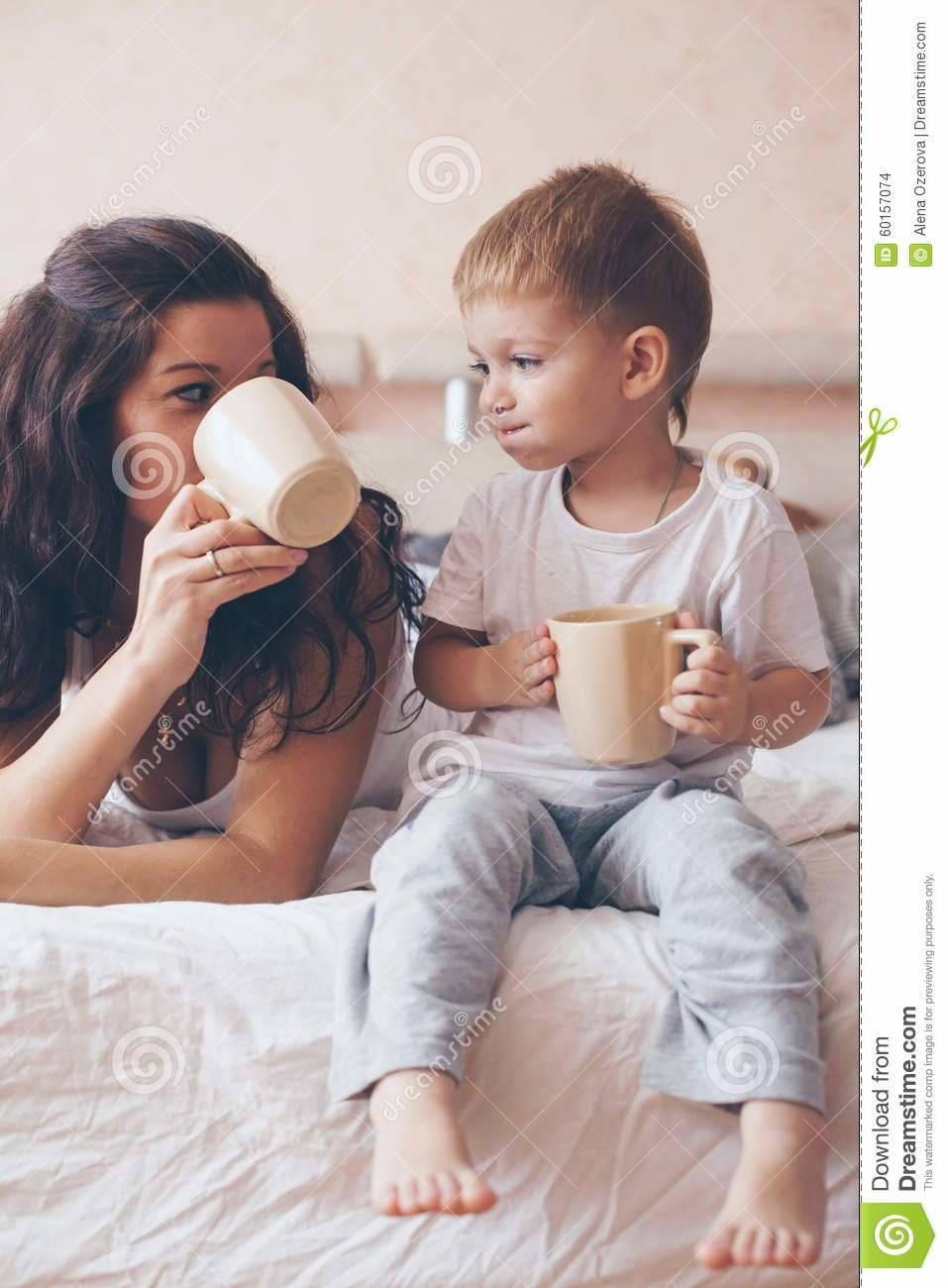 Best Mom Relaxing With Her Little Son Stock Photo Image 60157074 With Pictures