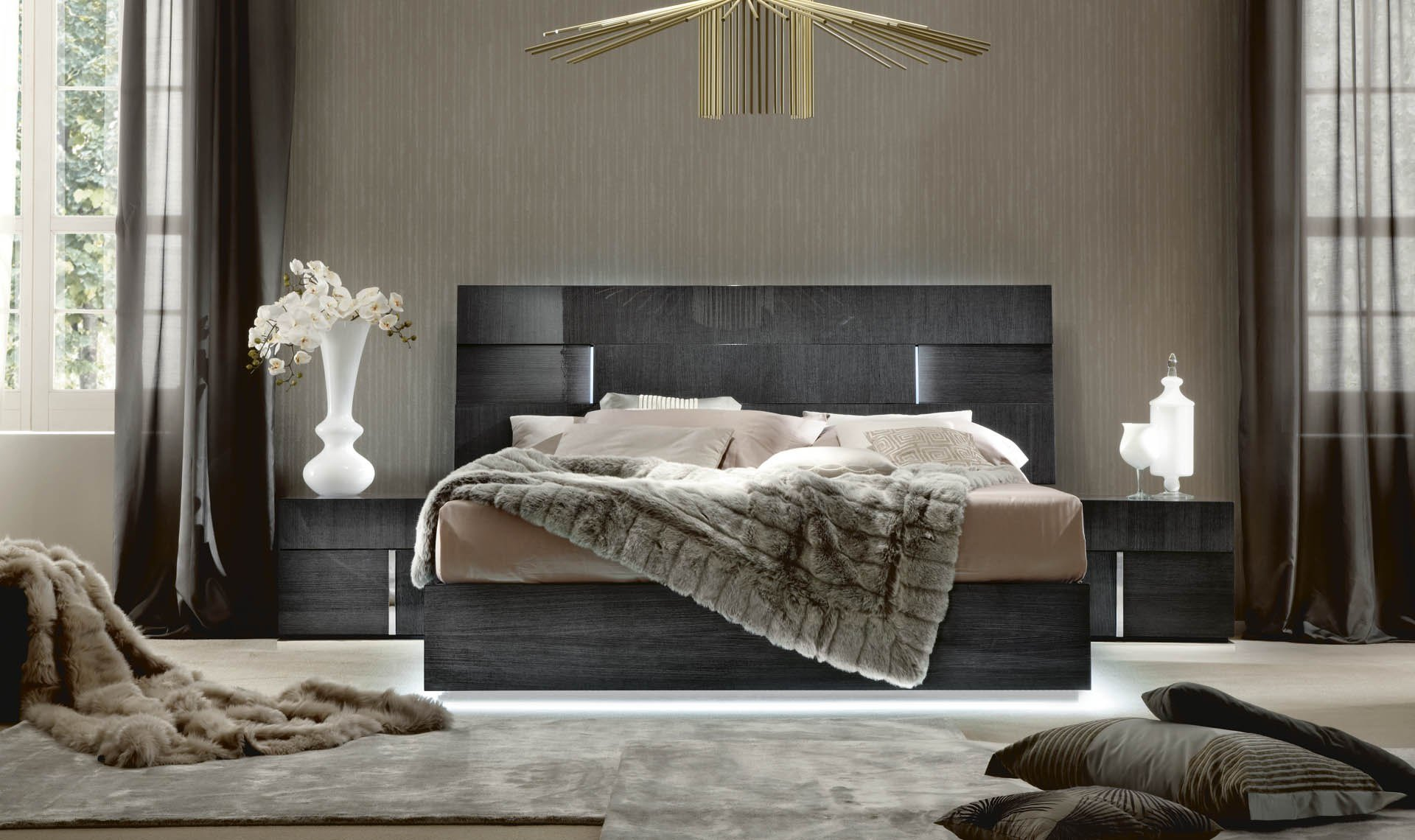 Best Alf Monte Carlo Bedroom Collection High Gloss Koto Finish With Pictures
