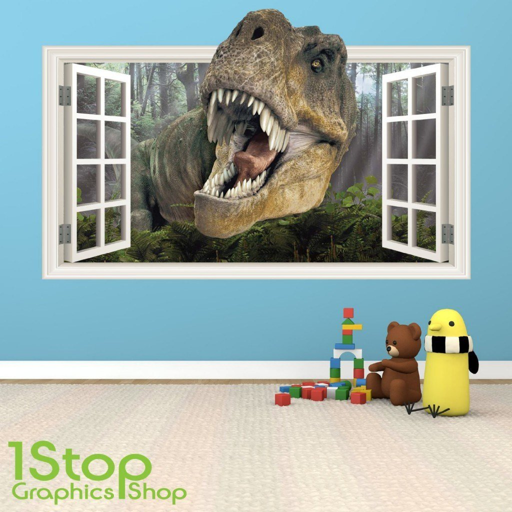 Best Dinosaur Wall Stickers Wall Art Kids With Pictures