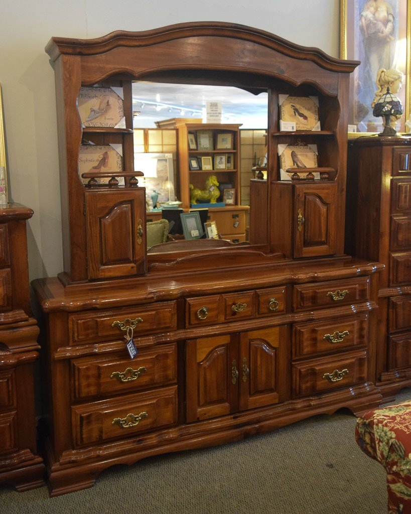 Best Pine Dresser W Mirror Hutch New England Home Furniture With Pictures