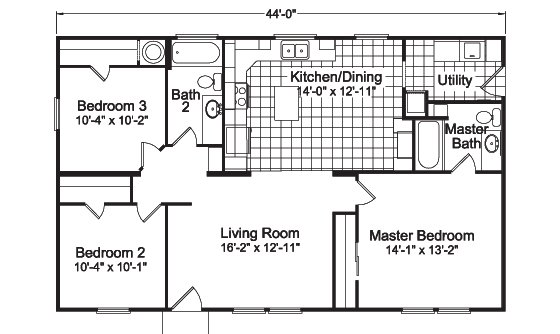 Best The Bay View I 4G28443A Manufactured Home Floor Plan Or With Pictures