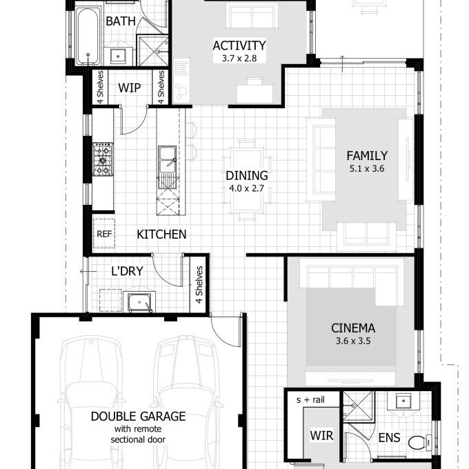 Best 31 Rectangular Floor Plans For Small Homes Small Rectangular Home Plan With 3 Bedrooms For With Pictures