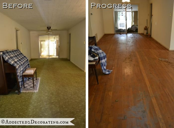 Best Goodbye Green Carpet Hello Original Hardwood Floors Addicted 2 Decorating® With Pictures