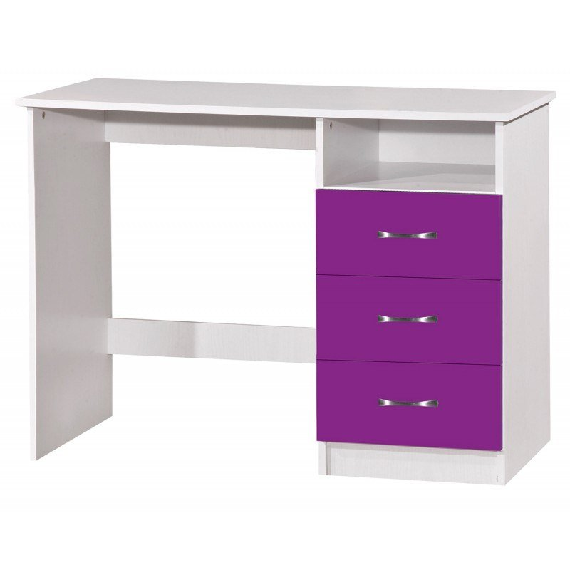 Best Marina Purple Gloss Ash White 5 Piece Set Ark Furniture With Pictures