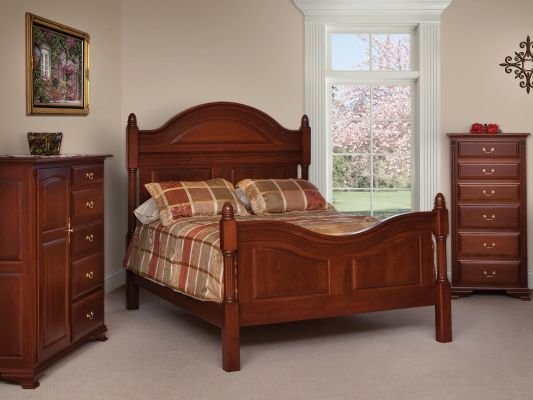 Best Charlotte Luxury Four Post Bed Countryside Amish Furniture With Pictures