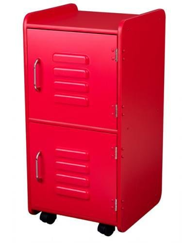 Best Kids Bedroom Storage Locker In Red With Pictures