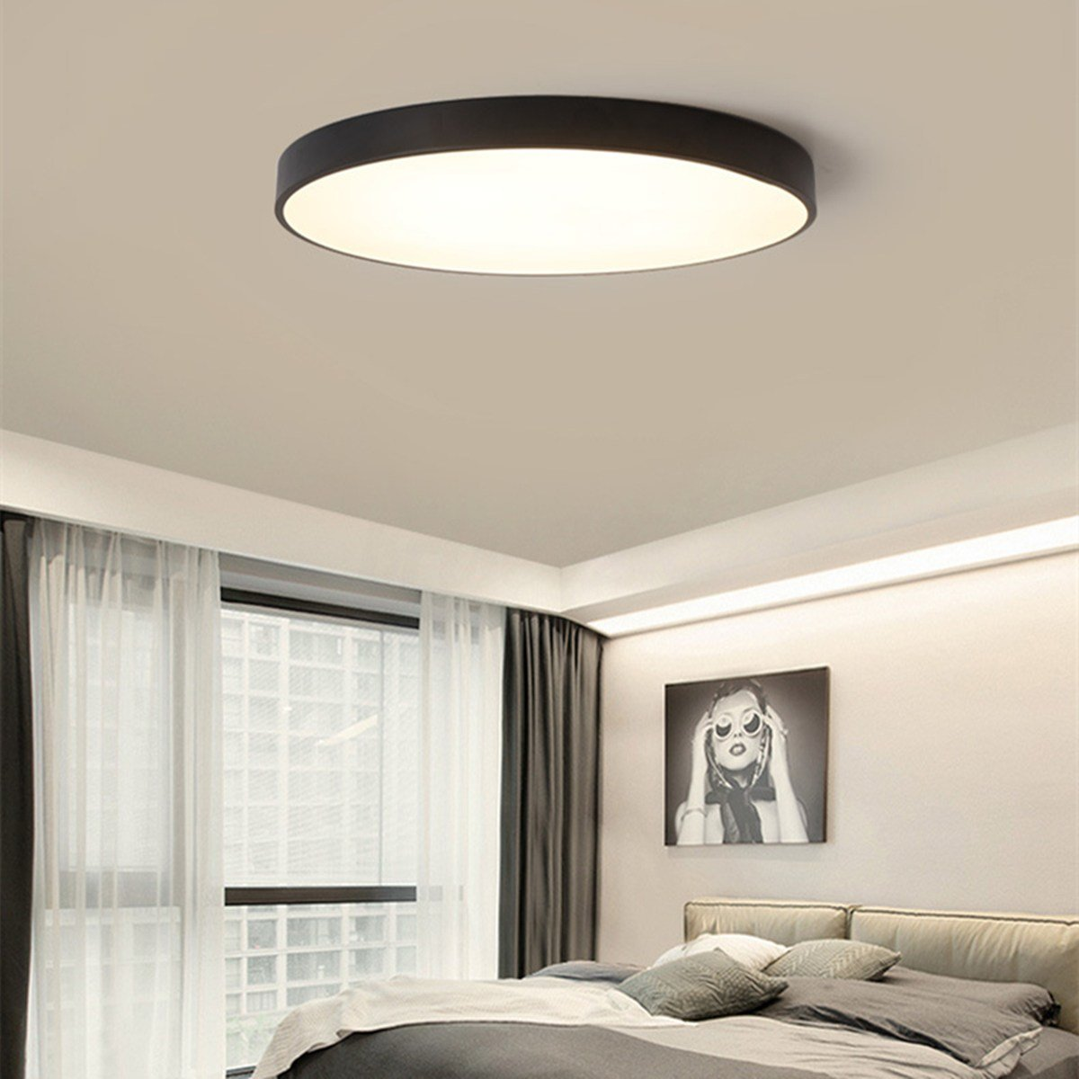 Best Round Led Ceiling Down Light Fixture Home Bedroom Living With Pictures