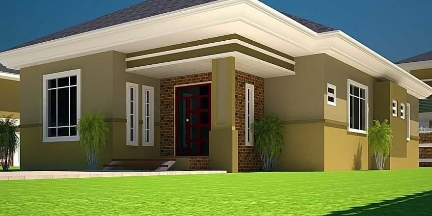 Best House Plans Ghana 3 Bedroom House Plan For A Half Plot With Pictures