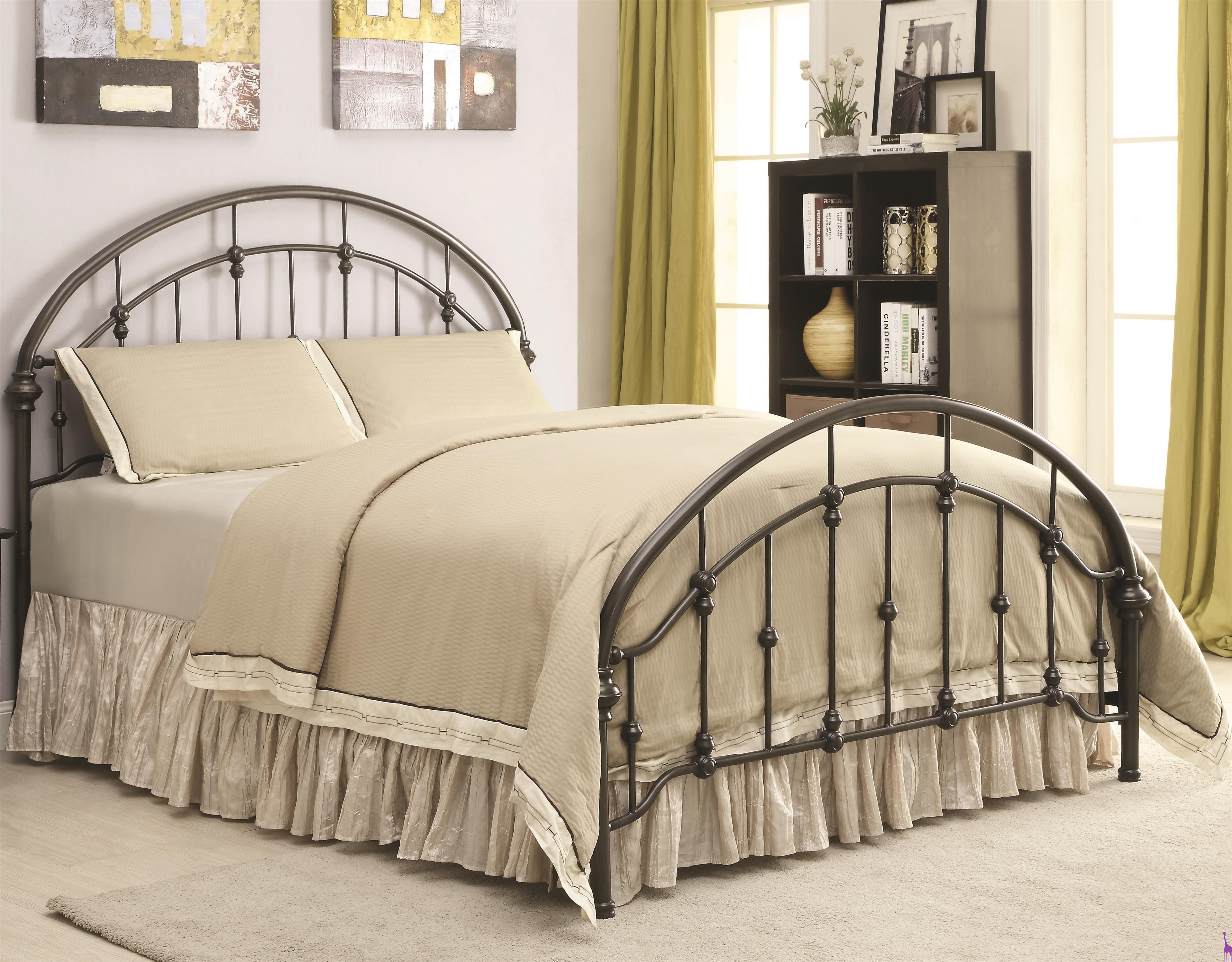 Best Iron Beds And Headboards Metal Curved Bed Coaster 300407 With Pictures
