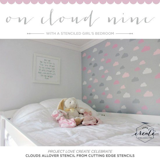 Best On Cloud Nine With A Stenciled Girl's Bedroom With Pictures