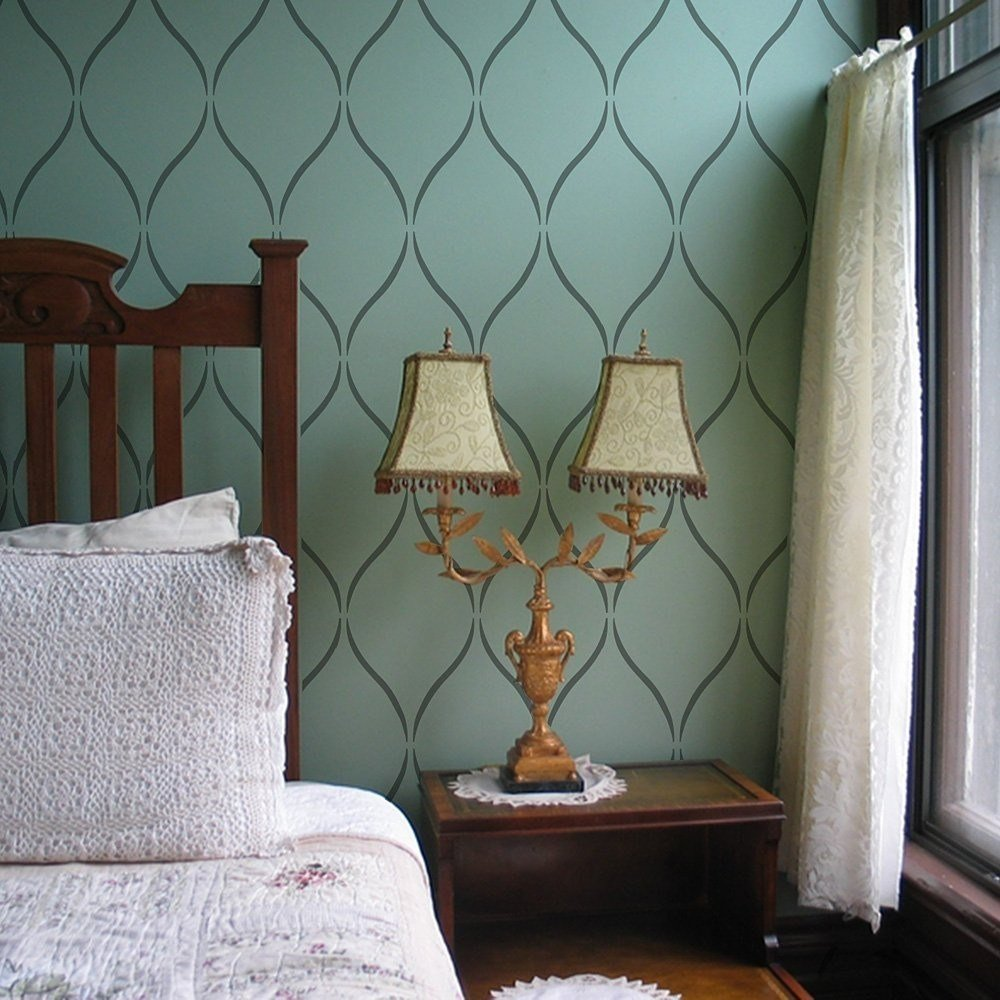 Best Serenity Trellis Design Stencil Pattern Decorative Wall With Pictures