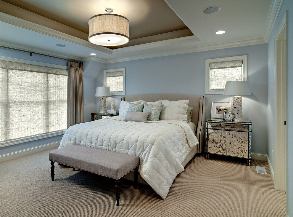 Best Berber Carpet Bedroom Contemporary With Bedside Table Blue With Pictures