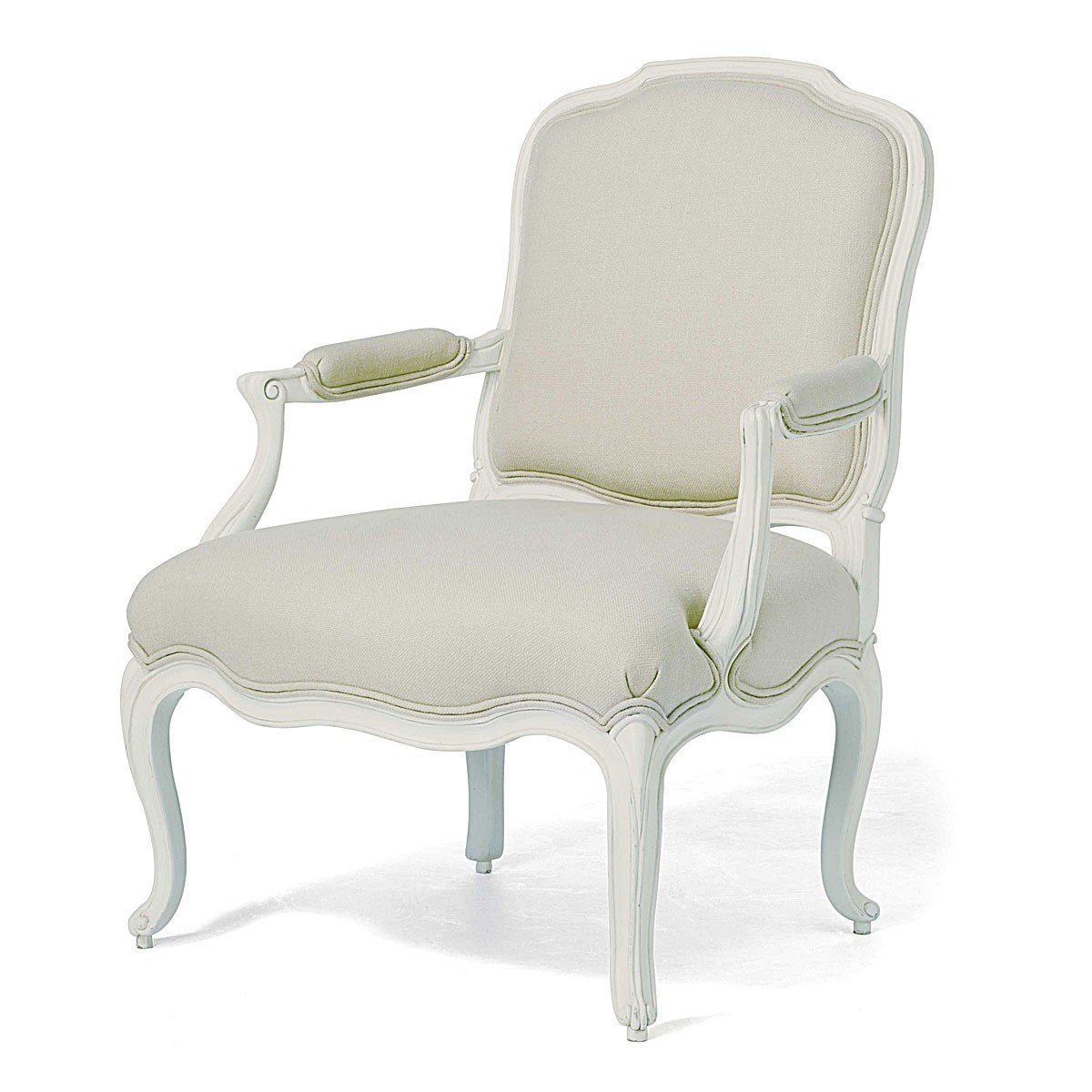 Best Ivory French Inspired Upholstered Armchair French Chairs With Pictures