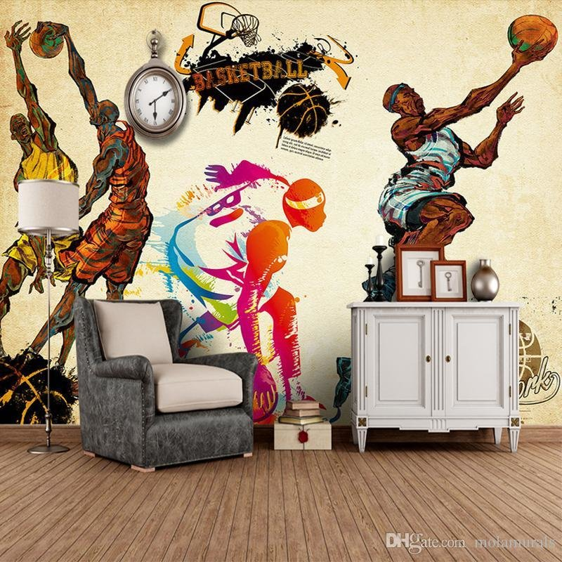 Best Customized 3D Stereo Sports Wallpaper Gym Yoga Basketball With Pictures