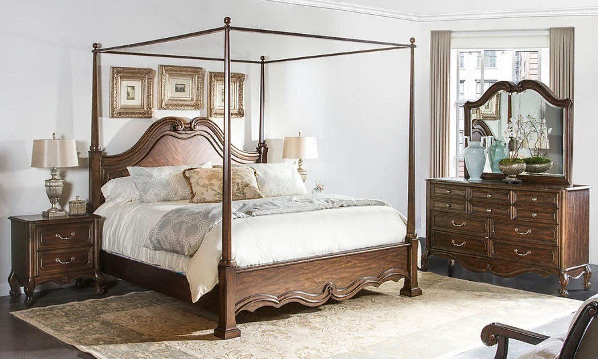 Best Fairmont Designs Claiborne King Canopy Bedroom Set With Pictures