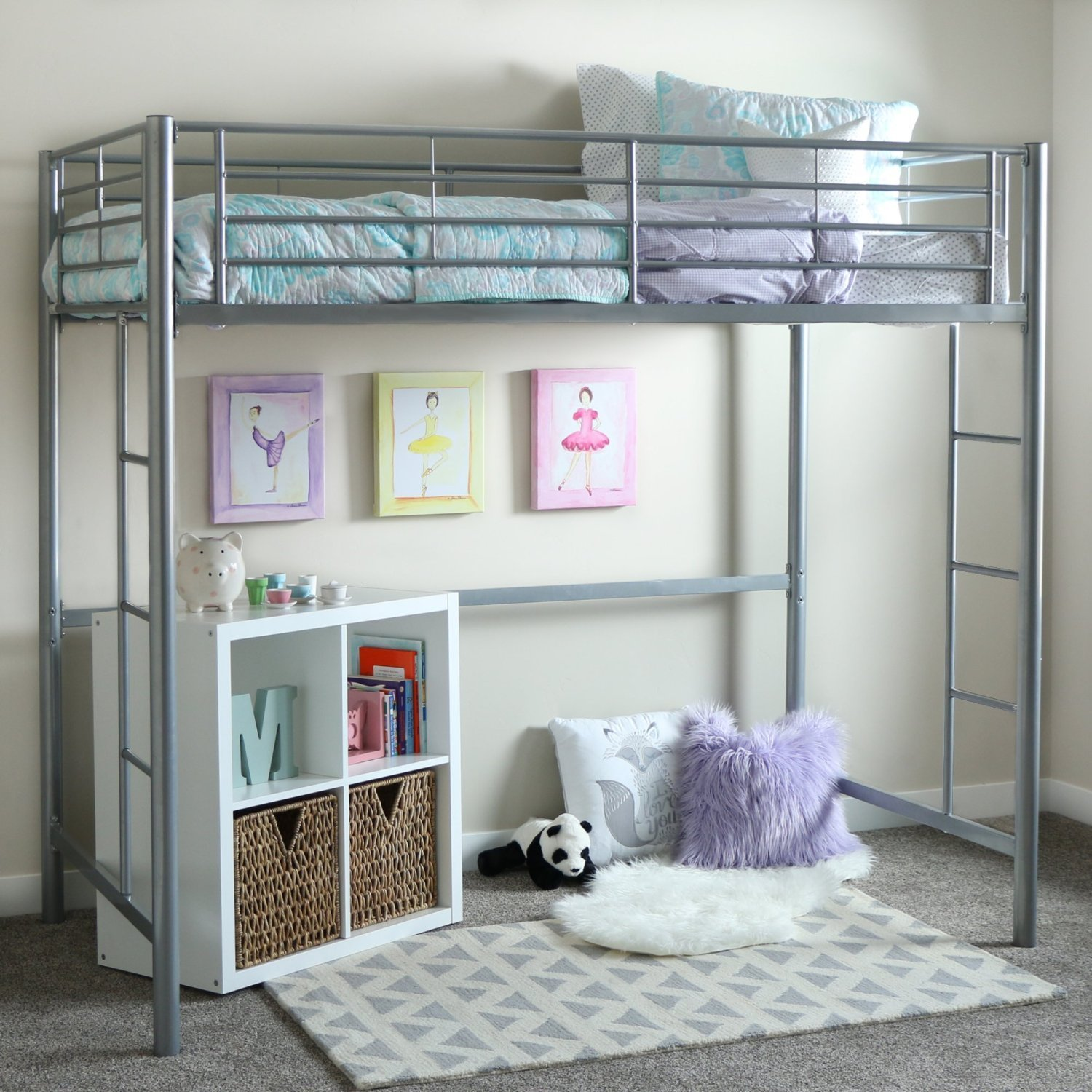 Best Metal Loft Bed 157 36 Twin Mattress 72 60 Highly With Pictures