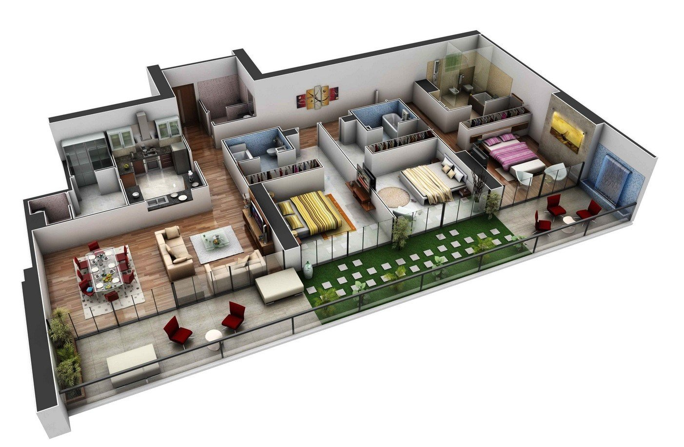 Best 3 Bedroom Modern House Plans 3D — Modern House Plan With Pictures