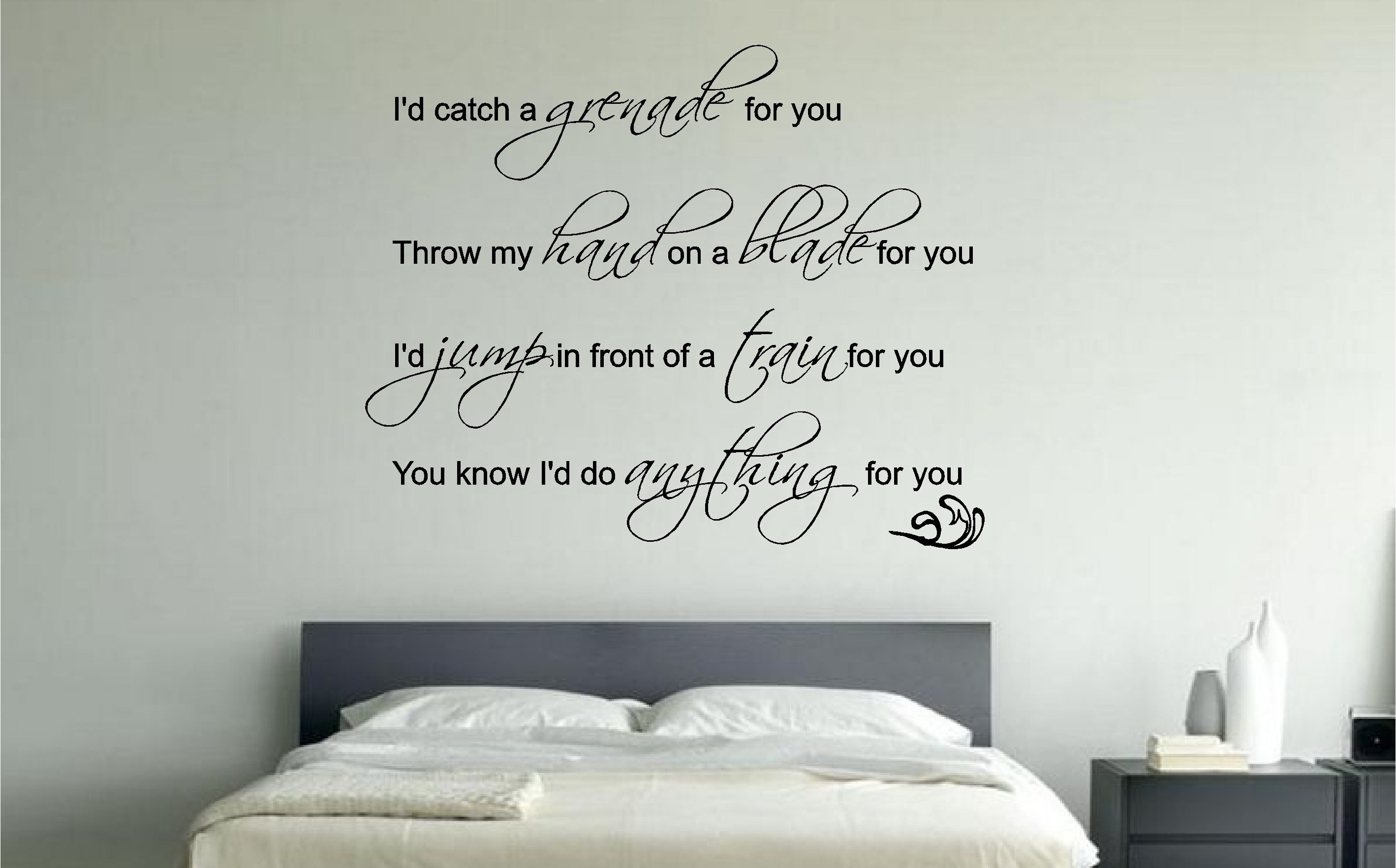 Best Bruno Mars Grenade Lyrics Music Wall Art Sticker Decal Bedroom Lounge Ebay With Pictures