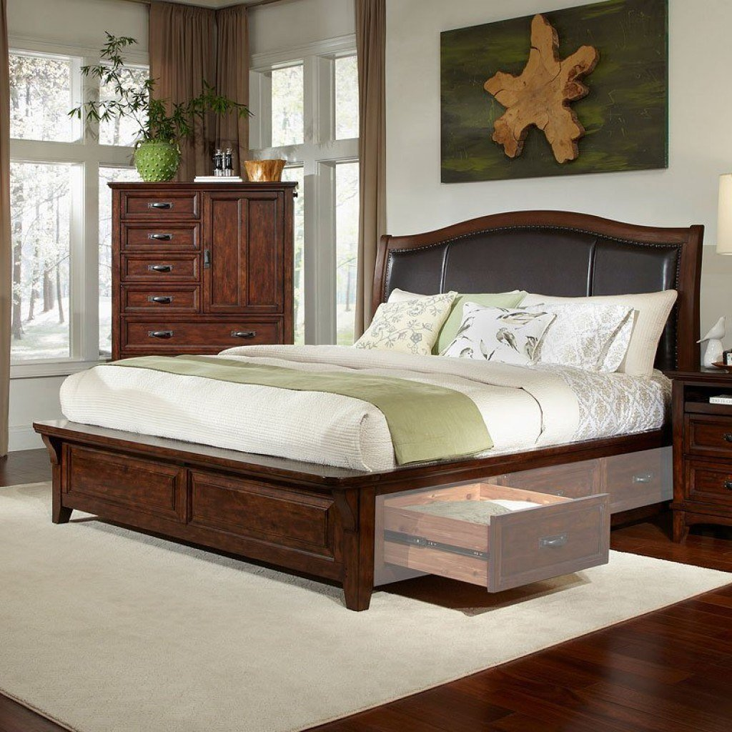 Best Star Valley Sleigh Bedroom Set Intercon Furniture With Pictures