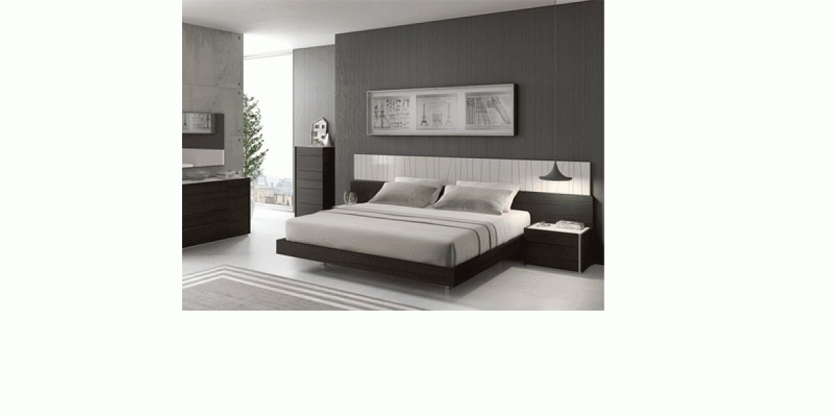Best Porto Bedroom Set In Light Gray Lacquer By J M Furniture With Pictures