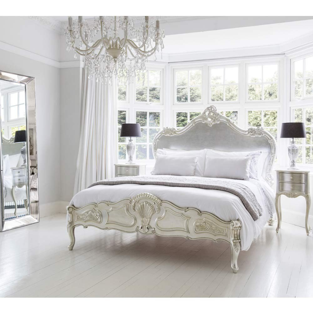 Best Sylvia Serenity Silver French Bed Luxury Bed With Pictures
