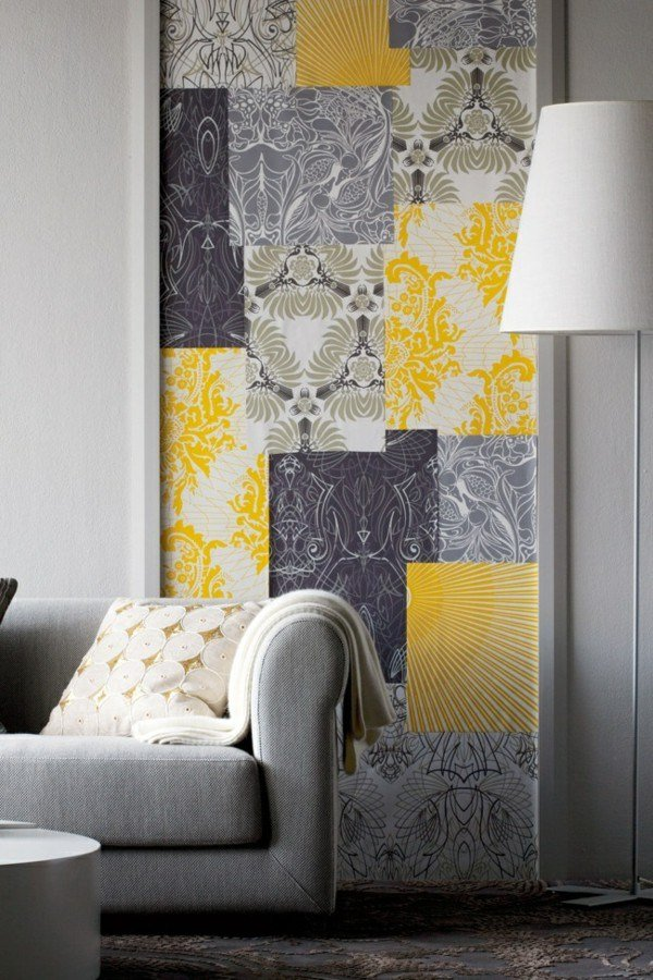 Best Grey And Mustard Bedroom Wallpaper Www Stkittsvilla Com With Pictures
