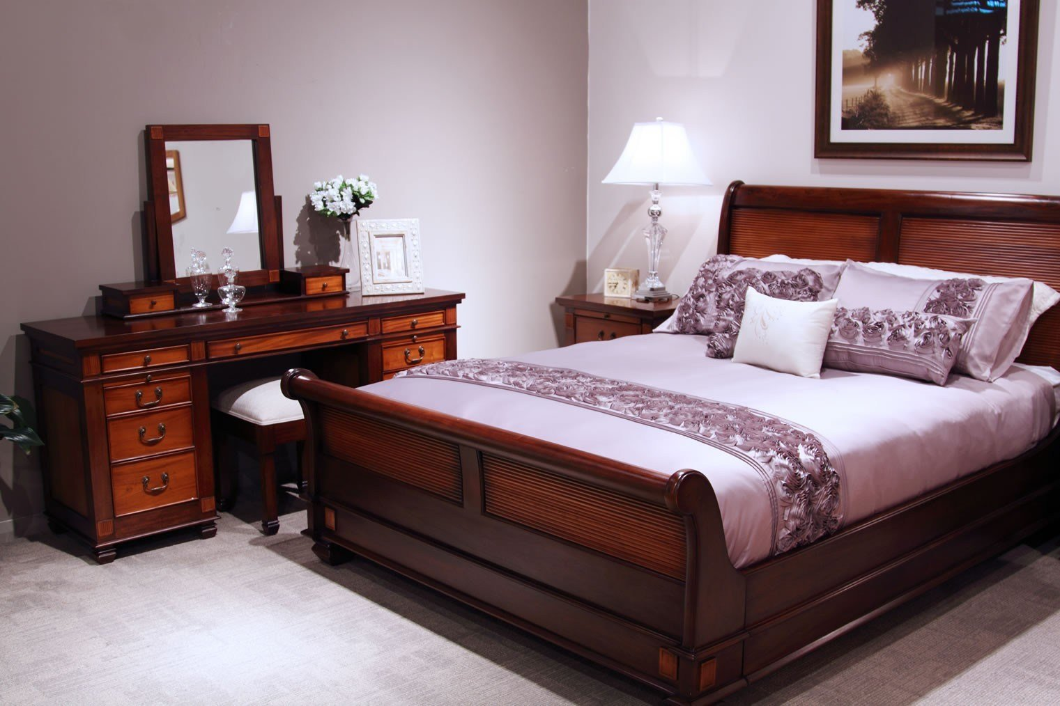 Best Chelmsford Mahogany 4 Piece Tallboy Bedroom Suite With Pictures