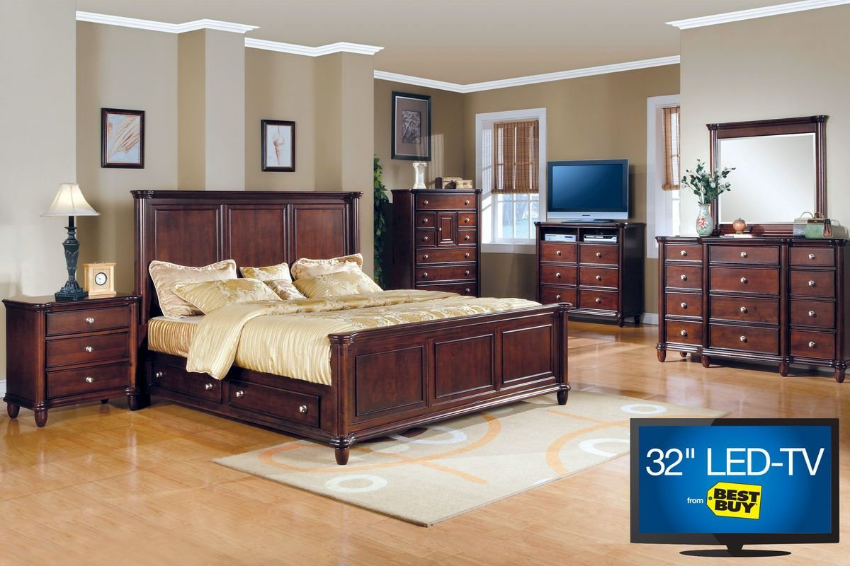 Best Hamilton Queen Bedroom Set With 32 Led Tv With Pictures