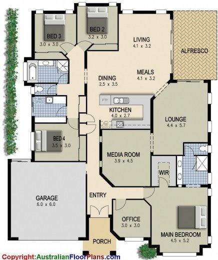 Best Incredible 4 Bedroom Plus Office House Plans Design Ideas With Pictures