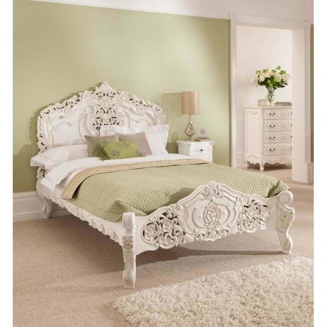 Best Antique French Style Rococo Bed Online Homesdirect365 With Pictures