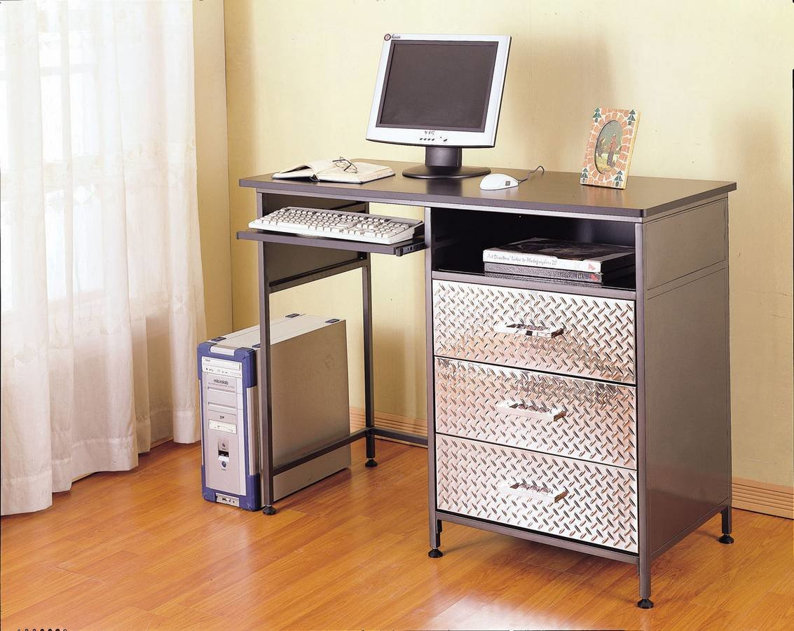 Best Powell Monster Bedroom Counter Height Computer Desk Pw 500 555 At Homelement Com With Pictures