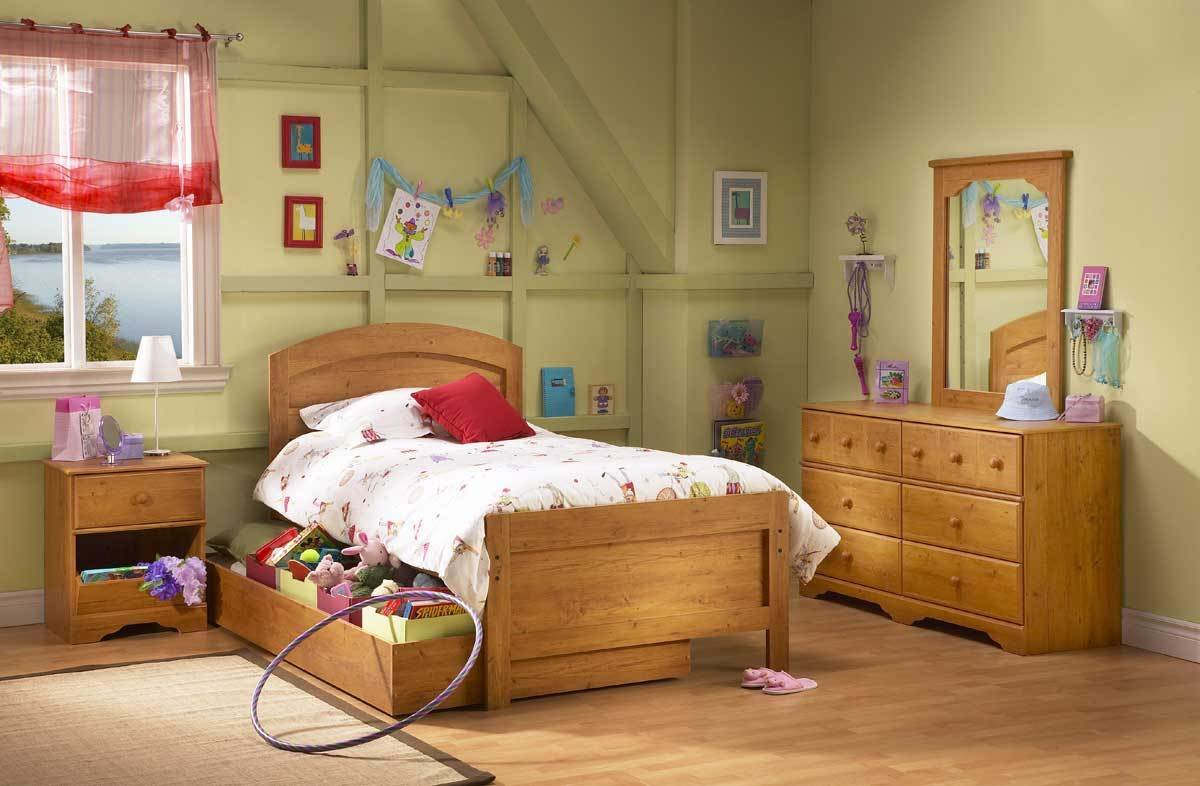Best South Shore Little Treasures Country Pine Kids Bedroom With Pictures