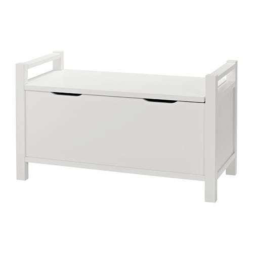 Best Hemnes Storage Bench White Stain Ikea With Pictures