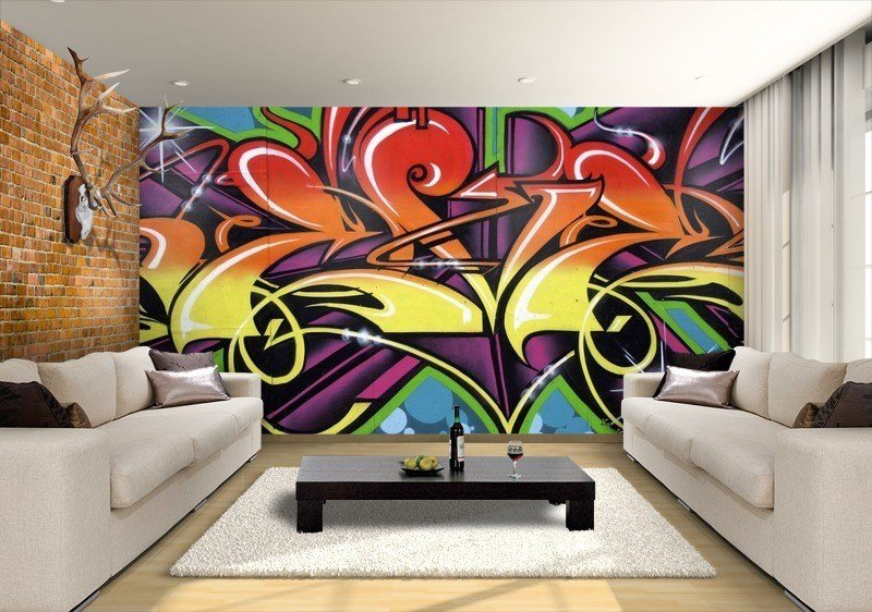 Best Graffiti Wallpaper Custom Wallpaper Mural Print By Jw With Pictures