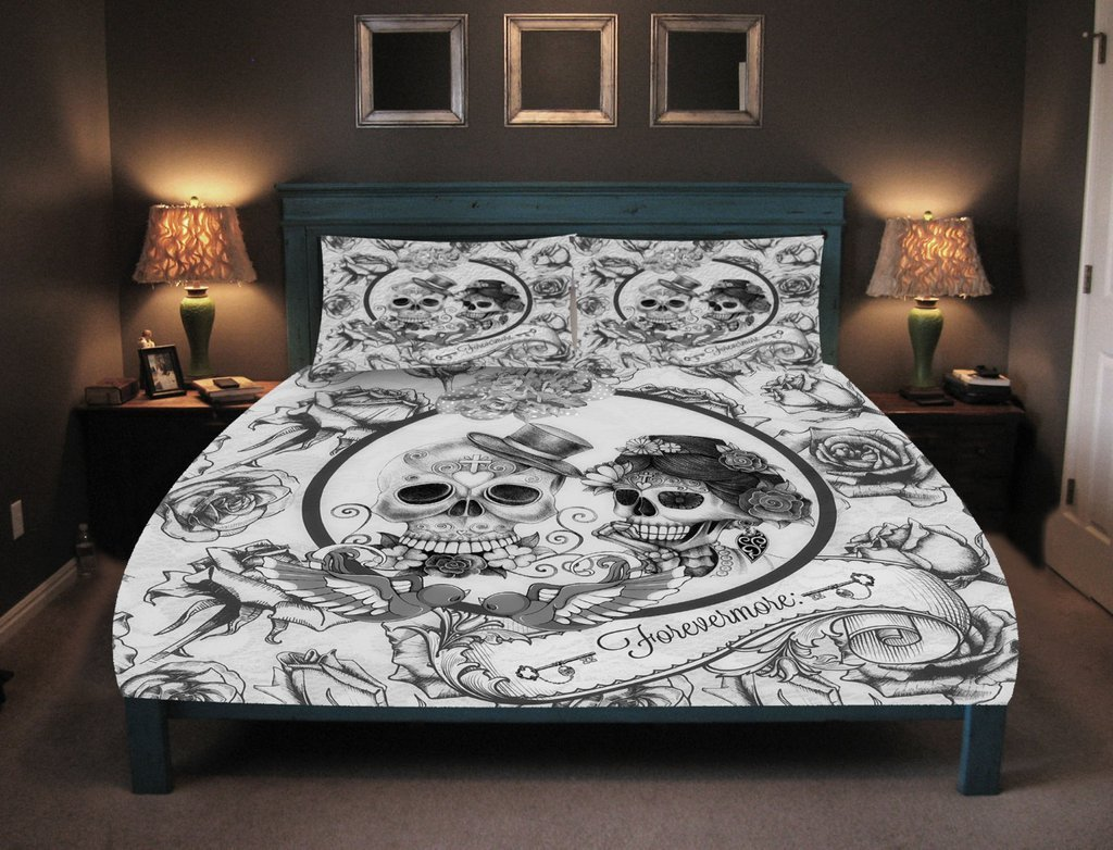 Best Fun Ideas For Day Of The Dead Bed Set Lostcoastshuttle Bedding Set With Pictures