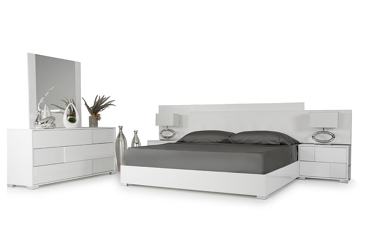 Best Modrest Monza Italian Modern White Bed With Pictures